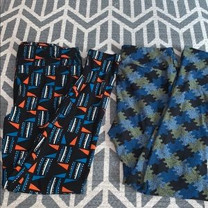 LuLaRoe patterned leggings (comes with set of 2)